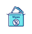alcohol free wipes rgb color icon