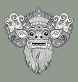 barong traditional ritual balinese mask vector image