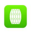 barrel icon digital green vector image vector image