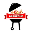 BBQ label design vector image vector image