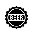 beer bottle cap feast of saint patrick line icon vector image vector image