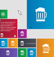 Beer glass icon sign buttons Modern interface vector image vector image