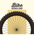 bike ride is good design card style vector image