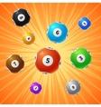 Bingo lottery balls 3d gambling background vector image