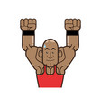 body building and gym cartoon vector image vector image