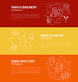 Brewery Flyers vector image vector image