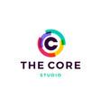 c letter logo core icon vector image