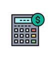 calculator bookkeeping accounting vector image
