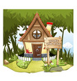 cartoon fairy house on the edge of forest on a vector image vector image