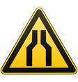 caution - danger carefully narrow the passage vector image vector image