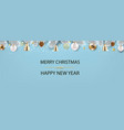 christmas postcard with fir tree blue background vector image vector image