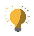 colorful silhouette of light bulb idea icon with vector image