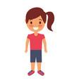 cute young girl child happy cartoon vector image vector image