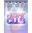 Disco background Night club poster vector image