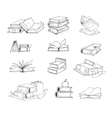 Doodle hand drawn sketch books set vector image