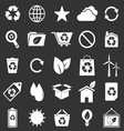 Ecology icons on gray background vector image