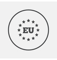 European union icon EU stars symbol vector image