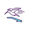 exotic birds rgb color icon vector image vector image