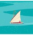 Fisherman sailboat vector image vector image