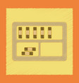 flat shading style icon folder shelf vector image vector image