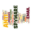 free anti spyware text background word cloud vector image vector image