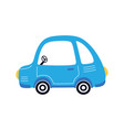 funny cartoon car isolated on white vector image