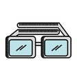 glasses 3d isolated icon design vector image vector image