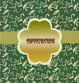 green floral pattern vintage floral background vector image vector image