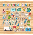 Healthcare doodle set vector image vector image