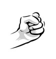 human hand with a clenched fist black and vector image