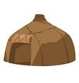 hut ancient people golden horde house shelter vector image
