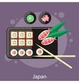 Japanese sushi vector image