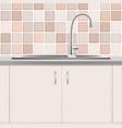 kitchen sink plumbing product realistic vector image