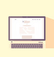 Laptop with internet blog on screen vector image