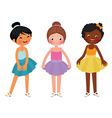Little girls different ethnic dancer vector image vector image