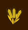 logo and symbol of wheat for thanksgiving day vector image vector image