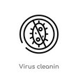 outline virus cleanin icon isolated black simple vector image vector image