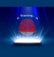 password touch id phone on light background vector image