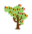 patriotic tree belgium map belgian flag national vector image