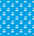 people protection pattern seamless blue vector image vector image