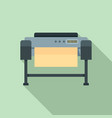 printer plotter icon flat style vector image vector image