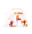 recycling - modern colorful flat design style vector image vector image