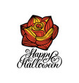 rose with happy halloween vector image vector image