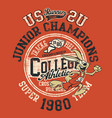 runner rabbit track and field college athletic vector image vector image
