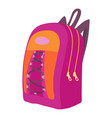 school backpack icon cartoon style vector image vector image