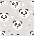 seamless pattern with cute panda vector image vector image