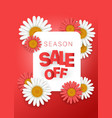 season sale offer season sale banner vertical vector image vector image