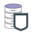 server hosting storage and protection shield icon vector image
