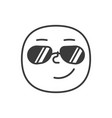 success smile fase black and white emoji eps 10 vector image vector image