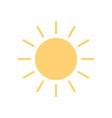 sun icon in flat style sunny weather icon isolated vector image vector image